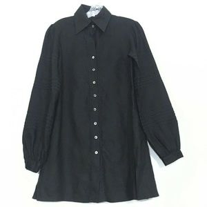 ANNE FONTAINE 38 Long Sleeve Button Down Top Tunic